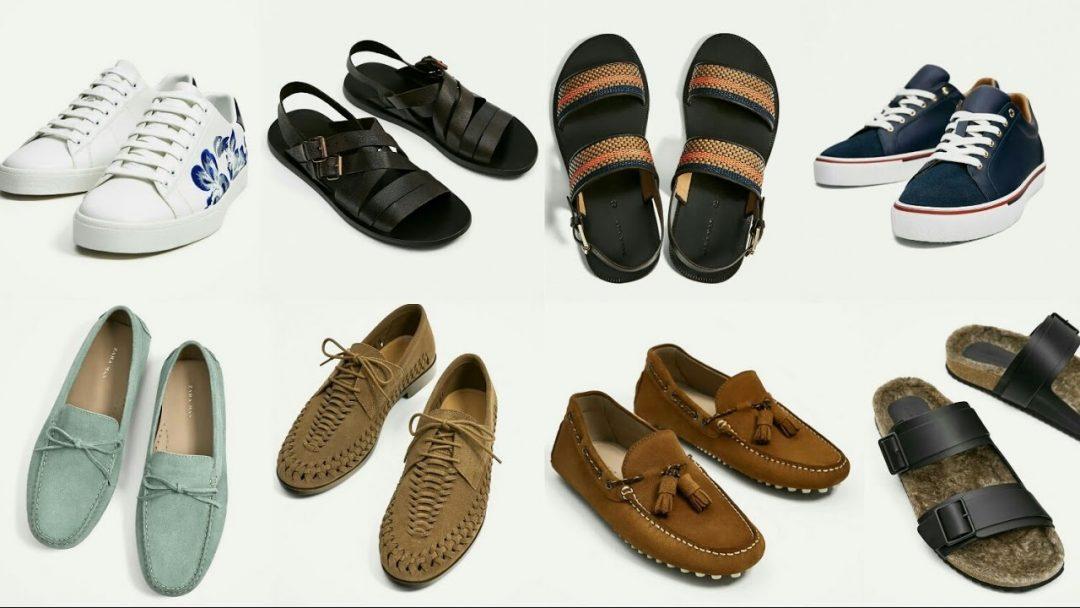 Varios zapatos de moda de chicos
